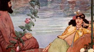 Ilustración de Edmund Doucet para una edición del Rubaiyat.