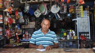 Mohammed Iliyas inside his shop