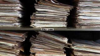 Folders containing patient records