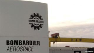 Bombardier, a Canadian aerospace firm's logo