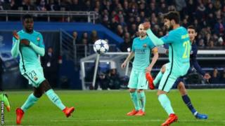 Paris St-Germain ihura igatsinda Barcelone 4-0 itariki 14 Ukwezi kwa Kabiri mu 2017