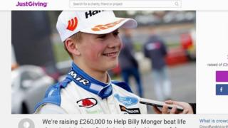 Billy Monger JustGiving Page