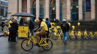 Ofo bikes in Sheffield