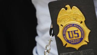 A Drug Enforcement Administration badge
