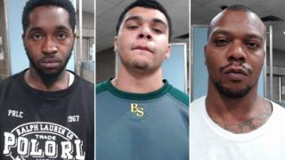 From left: Dvonta Middlebrooks, D'Markeo and Chazerae Taylor have been charged in connection to the shooting