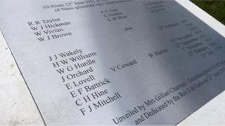 The names on the memorial
