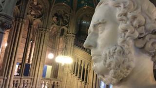Bust of 19th Century Manchester politician Sir Joseph Heron