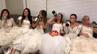 "Friends gather for a ""divorce party"""