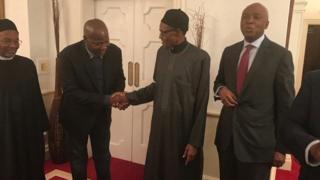 Bukola Saraki yana ziyartar Buhari