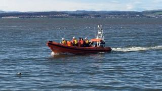 Cramond Island rescue
