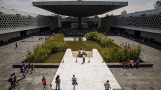 Exterior del Museo de Antropología de Ciudad de México.