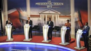 Wagombea wote walishiriki mdahalo wakati wa uchaguzi wa 2013