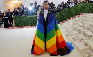 Lena Waithe arrives at the Metropolitan Museum of Art Costume Institute Gala