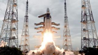 Chandrayaan-2 taking off