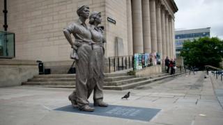 Women of Steel Statue in Sheffield
