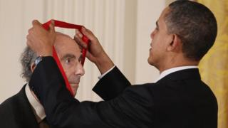 Obama and Philip Roth, March 2011