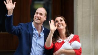 Duke and Duchess of Cambridge with newborn boy