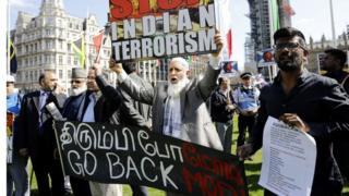 लंदन में मोदी का विरोध