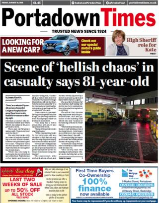 Portadown Times front page