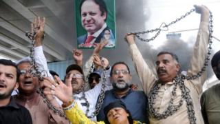 Supporters were outraged when Nawaz Sharif was handed a 10-year jail sentence last week