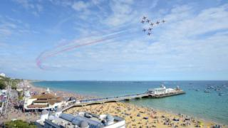 The Red Arrows at Bournemouth