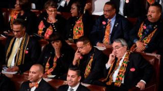 Lawmakers for US wey wear kente cloth for State of di Union address - 30 January 2018