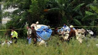 Wreckage of the Boeing 737 that crashed shortly after take off from Jose Marti International Airport in Havana, Cuba, 19 May 2018