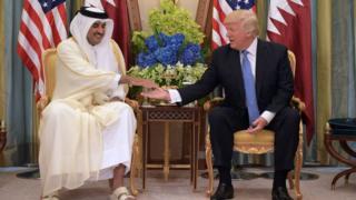 Эмир Катара и Трамп