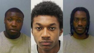 Images of three murderers