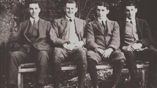The Bradford brothers, (left-right) Roland, Thomas, George and James