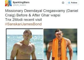 Sparkling stars: Missionary Deendayal Cregaswamy (Daniel Craig) Before & After Ghar wapsi