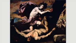 《阿波羅和馬耳敘阿斯》(1637年)表現的是理貝拉最喜歡的主題之一:活剝人皮。