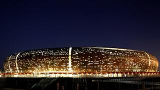 A general view of Soccer City, also known as the FNB Stadium, in Johannesburg May 11, 2010.