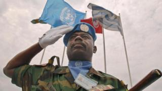 United Nations soldier from Ghana