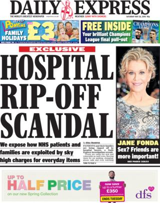 Express Saturday front page