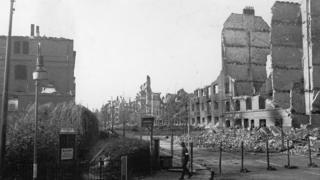 Перекрытая улица в Гамбурге