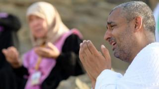 Muslims dey pray for Mount Arafat on August 10 2019.