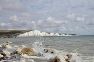 White cliffs by the sea