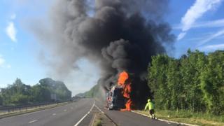 Lorry fire
