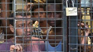 Libya gözaltı merkezindekiler