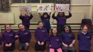 Choir singing song
