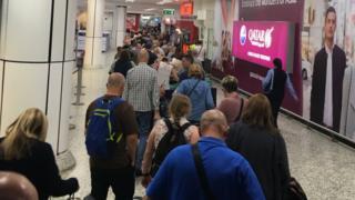 Passengers in queue