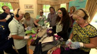 Care workers try the new dementia care training
