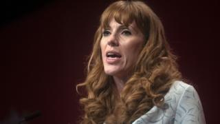 Angela Rayner speaking at the Labour Party conference