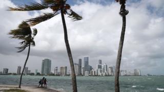 View of the Miami skyline