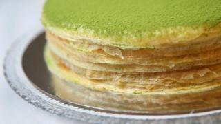 Lady M Confections' green tea mille crepe cake (2016 file picture)
