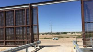 Portion of the fence near El Paso, Texas