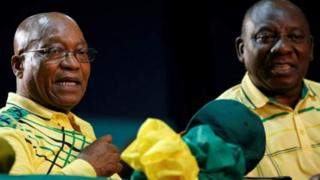 Cyril Ramaphosa bụ osote onyeisiala Saut Afịrịka Jacob Zuma.