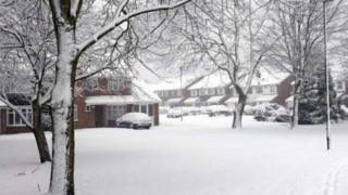 Snow in Sutton Coldfield