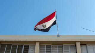 An Egyptian flag